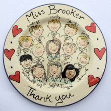 Thank you teacher hand painted plate