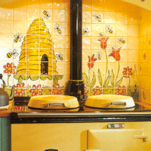 Beehive Kitchen Backsplash Tile