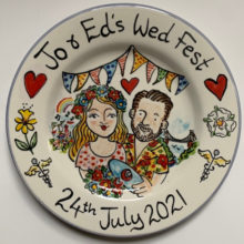 Wed Fest hand painted plate July 2021
