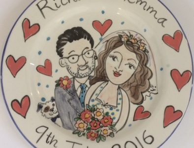 Wedding gift personalised plate July 2016