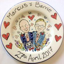 Wedding partnership celebration plate