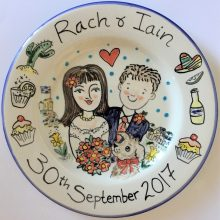 Rach and Iain wedding plate