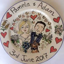 Wedding gift plate June 2017