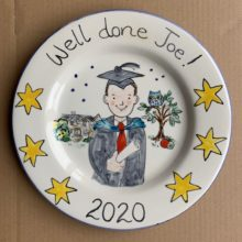 Well done Joe hand painted plate