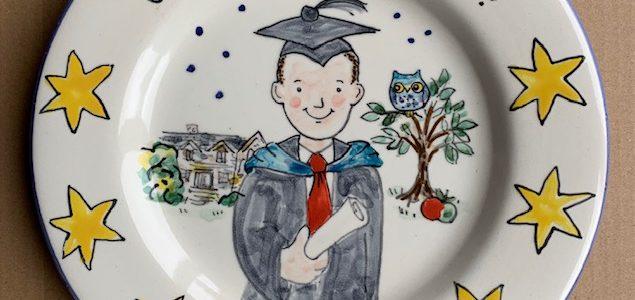 Well done Joe hand painted plate