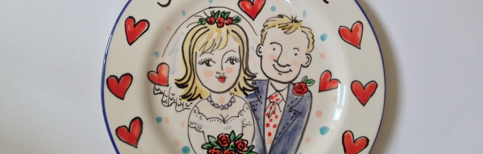 Wedding Plate Hand painted