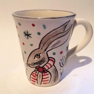 Christmas Hare Mug