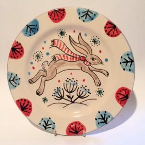 Christmas Hare Plate
