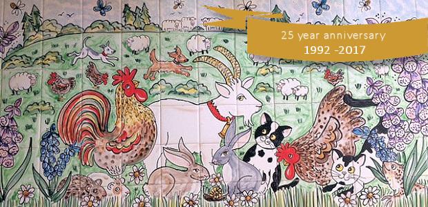 25 year anniversary tile murals