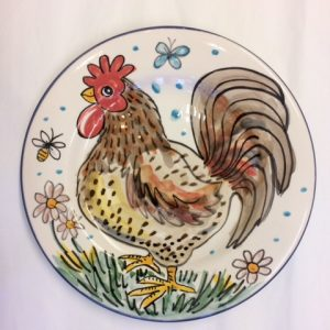 Hand painted Easter plate gift