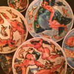 ladies and fish bowls