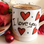 Hand painted Valentin's I Love You Mug