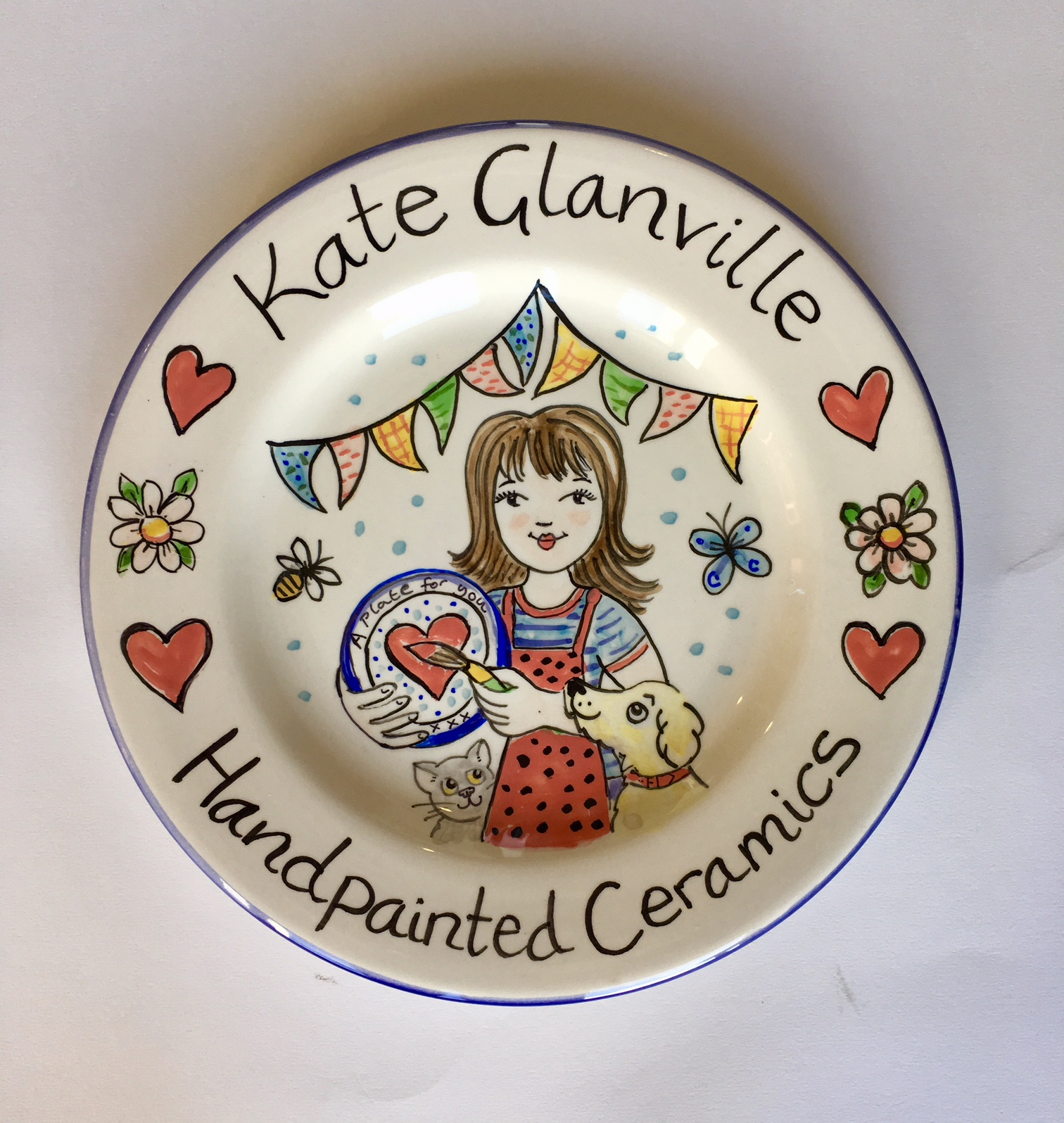 Hand Painted Plate  sc 1 st  Kate Glanville & Ceramic plates hand painted by Kate Glanville