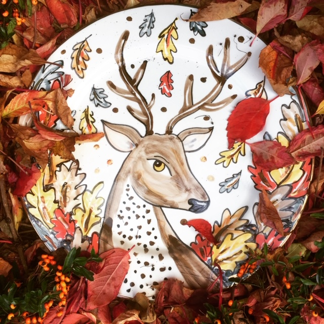 Christmas Reindeer Plate