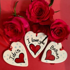 Valentine hanging heart decoration