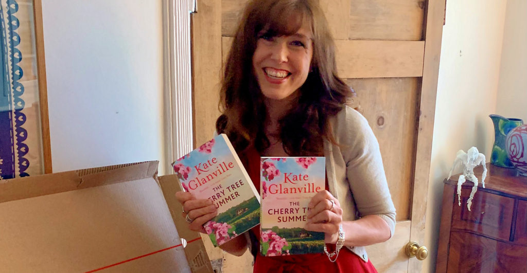 Kate with her new book The Cherry Tree Summer