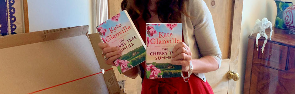 Kate with new book The Cherry Tree Summer