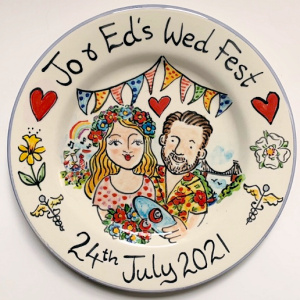 Wed Fest hand painted plate